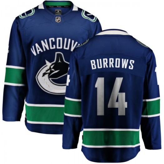 Alex Burrows Vancouver Canucks Men's Fanatics Branded Blue Home Breakaway Jersey