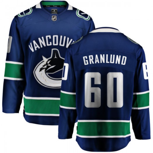 Markus Granlund Vancouver Canucks Youth Fanatics Branded Blue Home Breakaway Jersey