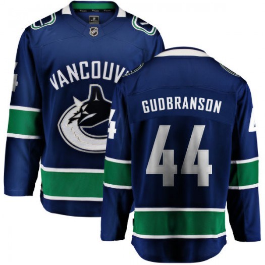 Erik Gudbranson Vancouver Canucks Youth Fanatics Branded Blue Home Breakaway Jersey