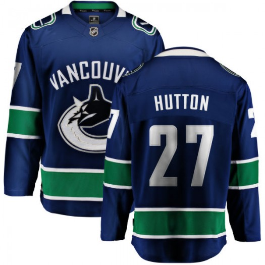 Ben Hutton Vancouver Canucks Youth Fanatics Branded Blue Home Breakaway Jersey