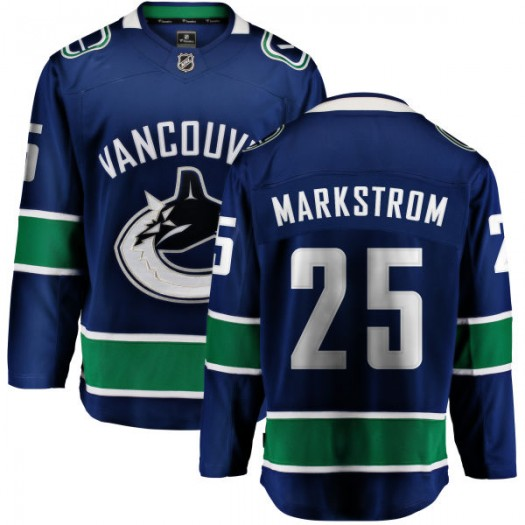 Jacob Markstrom Vancouver Canucks Youth Fanatics Branded Blue Home Breakaway Jersey