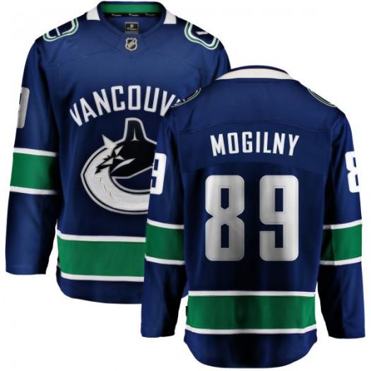 Alexander Mogilny Vancouver Canucks Youth Fanatics Branded Blue Home Breakaway Jersey