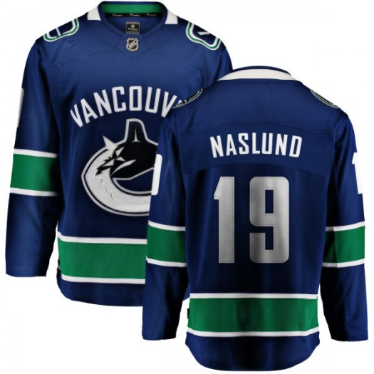 Markus Naslund Vancouver Canucks Youth Fanatics Branded Blue Home Breakaway Jersey