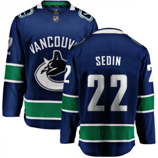 Daniel Sedin Vancouver Canucks Men's Fanatics Branded Blue Home Breakaway Jersey