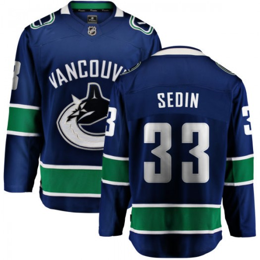 Henrik Sedin Vancouver Canucks Men's Fanatics Branded Blue Home Breakaway Jersey