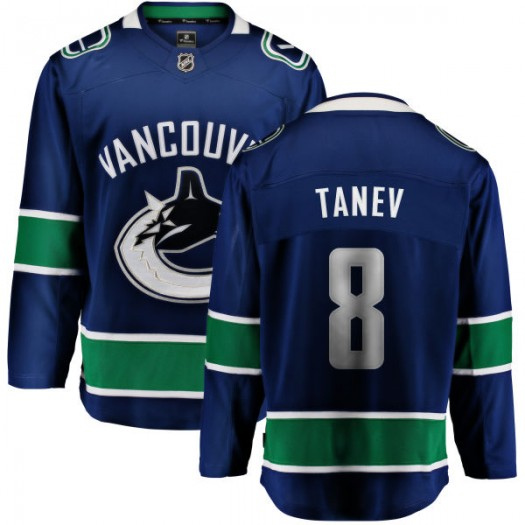 Christopher Tanev Vancouver Canucks Youth Fanatics Branded Blue Home Breakaway Jersey