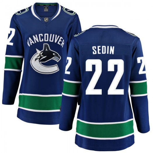 Daniel Sedin Vancouver Canucks Women's Fanatics Branded Blue Home Breakaway Jersey