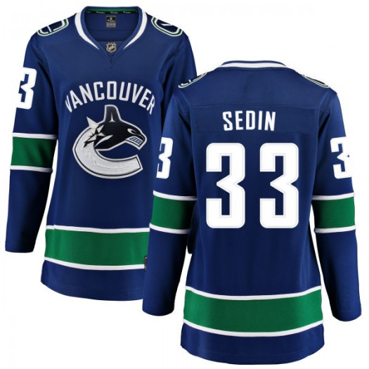 Henrik Sedin Vancouver Canucks Women's Fanatics Branded Blue Home Breakaway Jersey