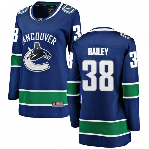 Justin Bailey Vancouver Canucks Women's Fanatics Branded Blue Breakaway Home Jersey