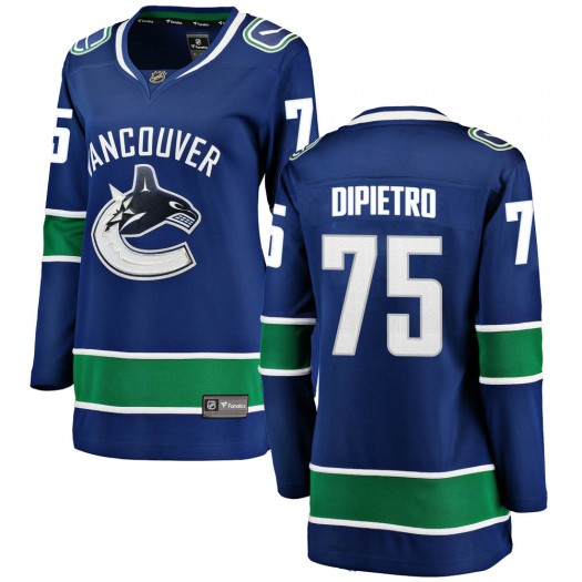 Michael DiPietro Vancouver Canucks Women's Fanatics Branded Blue Breakaway Home Jersey