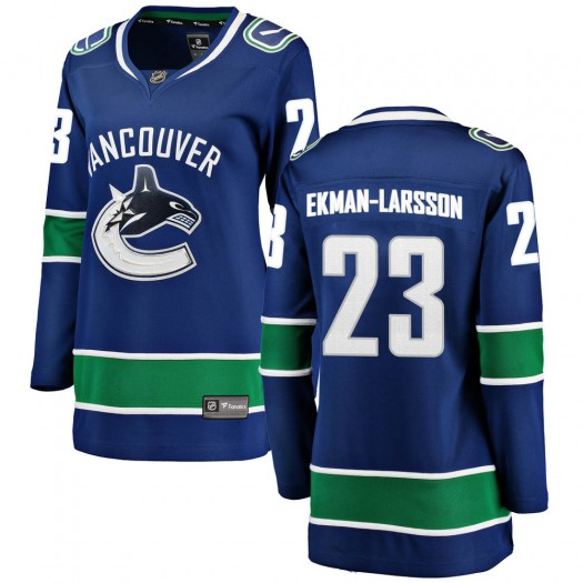 Oliver Ekman-Larsson Vancouver Canucks Women's Fanatics Branded Blue Breakaway Home Jersey