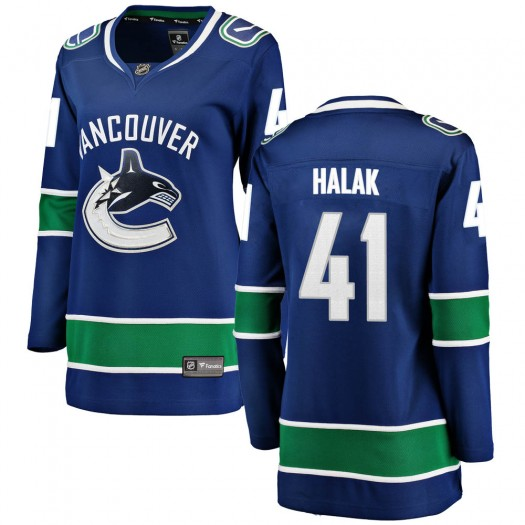 Jaroslav Halak Vancouver Canucks Women's Fanatics Branded Blue Breakaway Home Jersey