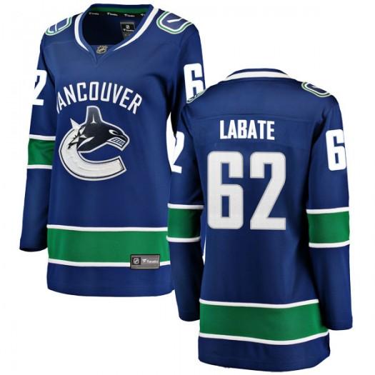 Joseph Labate Vancouver Canucks Women's Fanatics Branded Blue Breakaway Home Jersey