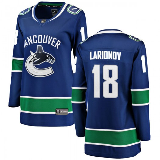 Igor Larionov Vancouver Canucks Women's Fanatics Branded Blue Breakaway Home Jersey