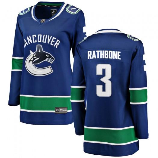 Jack Rathbone Vancouver Canucks Women's Fanatics Branded Blue Breakaway Home Jersey