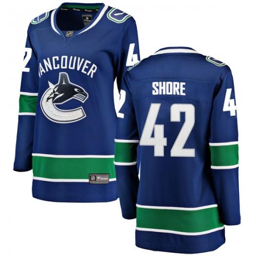 Drew Shore Vancouver Canucks Women's Fanatics Branded Blue Breakaway Home Jersey