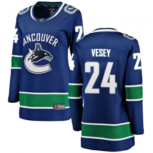 Jimmy Vesey Vancouver Canucks Women's Fanatics Branded Blue Breakaway Home Jersey
