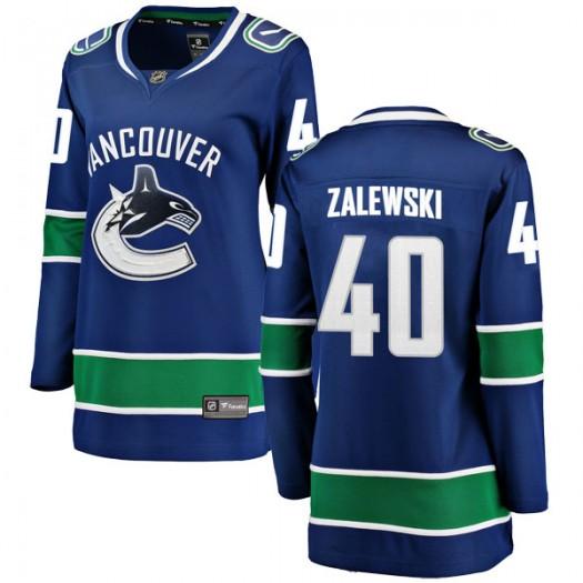 Michael Zalewski Vancouver Canucks Women's Fanatics Branded Blue Breakaway Home Jersey