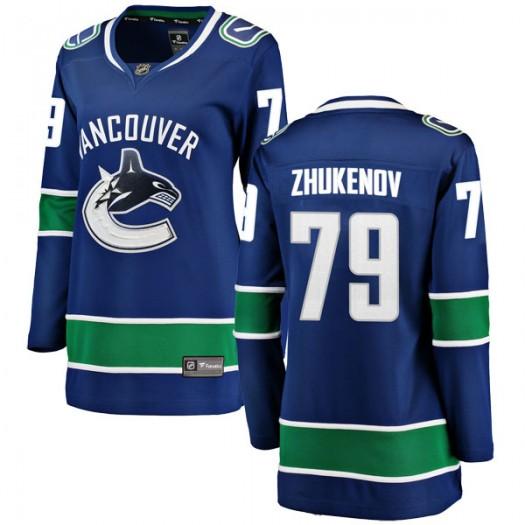 Dmitry Zhukenov Vancouver Canucks Women's Fanatics Branded Blue Breakaway Home Jersey
