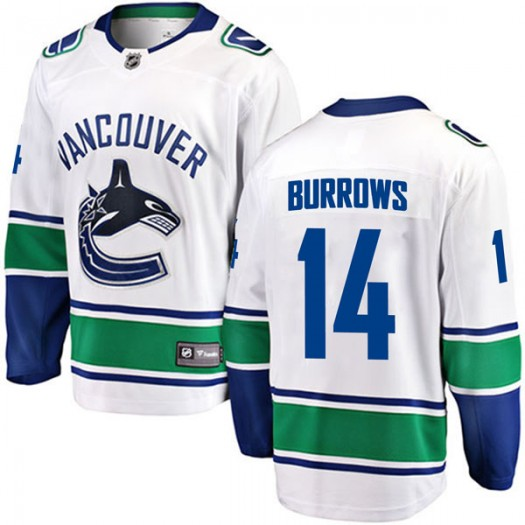 Alex Burrows Vancouver Canucks Youth Fanatics Branded White Breakaway Away Jersey