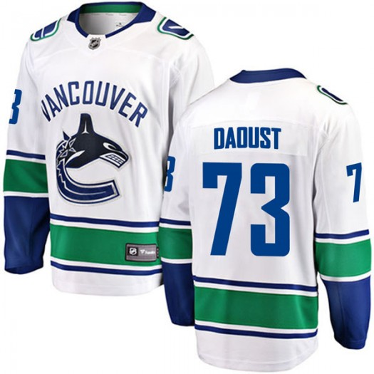 Alexis Daoust Vancouver Canucks Youth Fanatics Branded White Breakaway Away Jersey