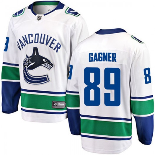 Sam Gagner Vancouver Canucks Youth Fanatics Branded White Breakaway Away Jersey