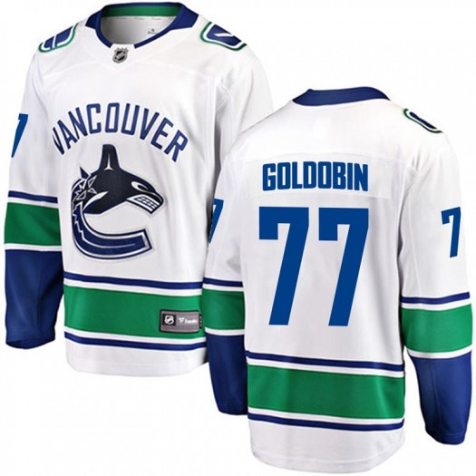 Nikolay Goldobin Vancouver Canucks Youth Fanatics Branded Gold Breakaway White Away Jersey