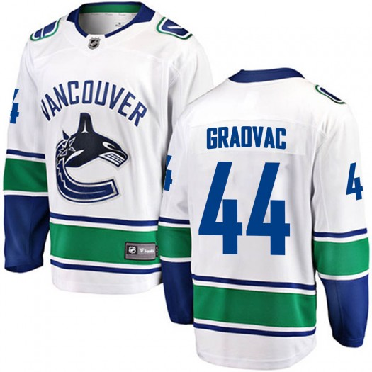 Tyler Graovac Vancouver Canucks Youth Fanatics Branded White Breakaway Away Jersey
