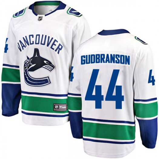 Erik Gudbranson Vancouver Canucks Youth Fanatics Branded White Breakaway Away Jersey
