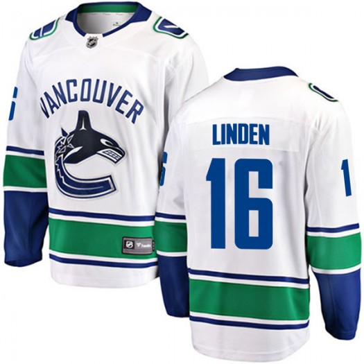 Trevor Linden Vancouver Canucks Youth Fanatics Branded White Breakaway Away Jersey