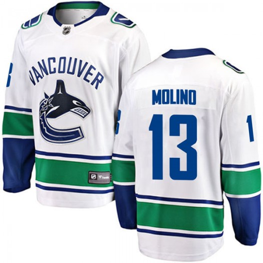 Griffen Molino Vancouver Canucks Youth Fanatics Branded White Breakaway Away Jersey