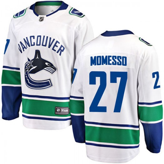 Sergio Momesso Vancouver Canucks Youth Fanatics Branded White Breakaway Away Jersey