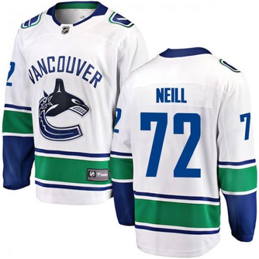 Carl Neill Vancouver Canucks Youth Fanatics Branded White Breakaway Away Jersey