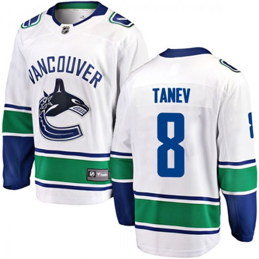 Chris Tanev Vancouver Canucks Youth Fanatics Branded White Breakaway Away Jersey