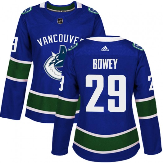 Madison Bowey Vancouver Canucks Women's Adidas Authentic Blue Home Jersey