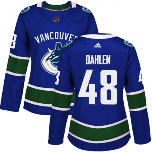 Jonathan Dahlen Vancouver Canucks Women's Adidas Authentic Blue Home Jersey