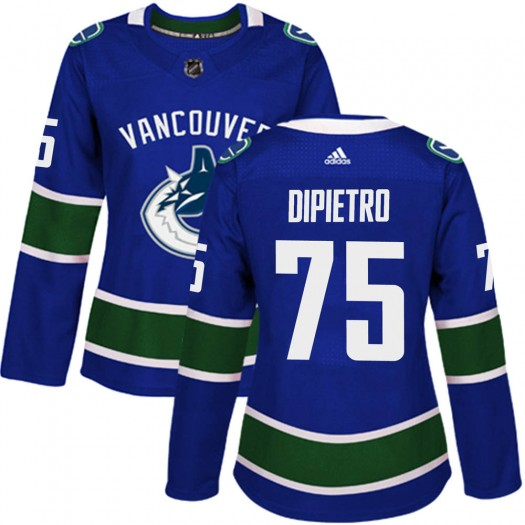 Michael DiPietro Vancouver Canucks Women's Adidas Authentic Blue Home Jersey