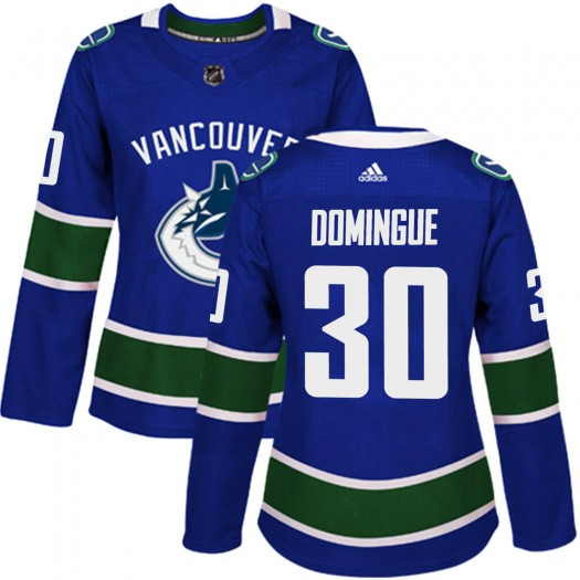 Louis Domingue Vancouver Canucks Women's Adidas Authentic Blue ized Home Jersey