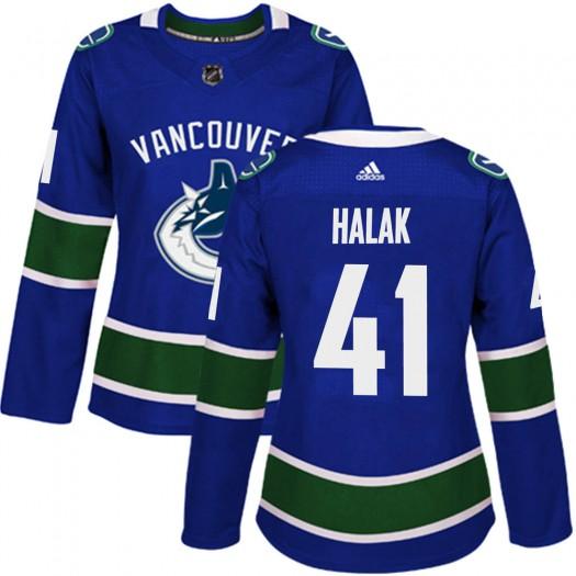 Jaroslav Halak Vancouver Canucks Women's Adidas Authentic Blue Home Jersey