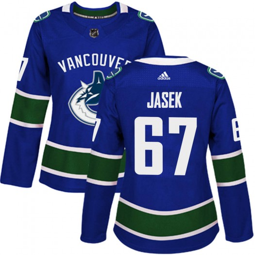 Lukas Jasek Vancouver Canucks Women's Adidas Authentic Blue Home Jersey