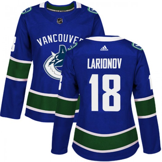 Igor Larionov Vancouver Canucks Women's Adidas Authentic Blue Home Jersey