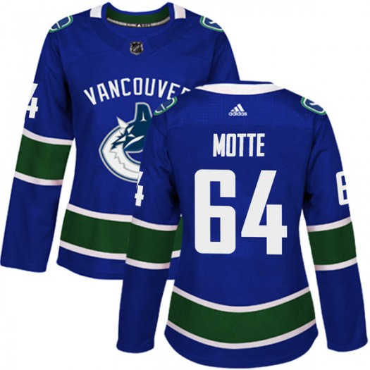 Tyler Motte Vancouver Canucks Women's Adidas Authentic Blue Home Jersey