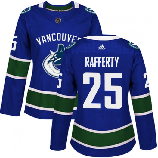 Brogan Rafferty Vancouver Canucks Women's Adidas Authentic Blue Home Jersey