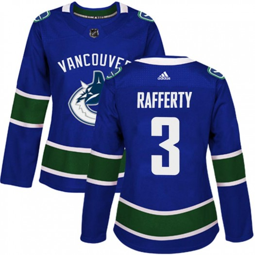 Brogan Rafferty Vancouver Canucks Women's Adidas Authentic Blue Home Jersey