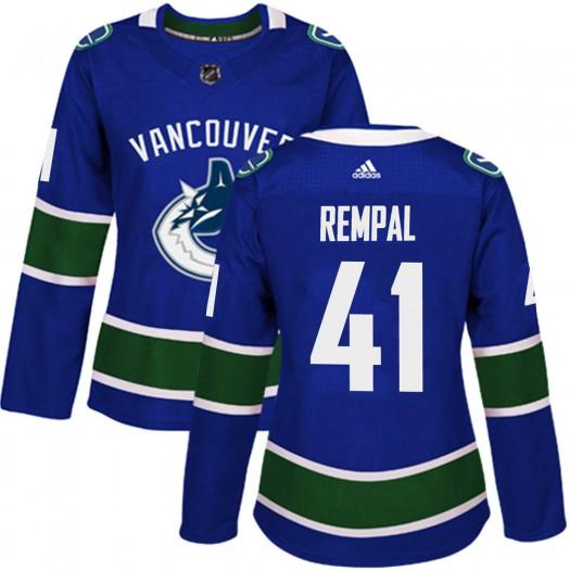 Sheldon Rempal Vancouver Canucks Women's Adidas Authentic Blue Home Jersey