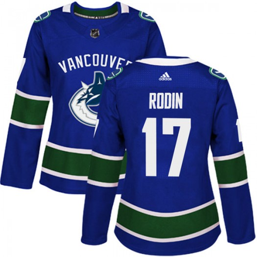 Anton Rodin Vancouver Canucks Women's Adidas Authentic Blue Home Jersey