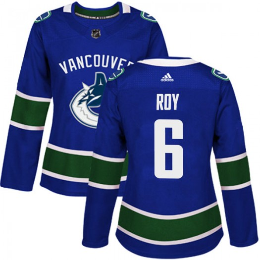 Marc-Olivier Roy Vancouver Canucks Women's Adidas Authentic Blue Home Jersey
