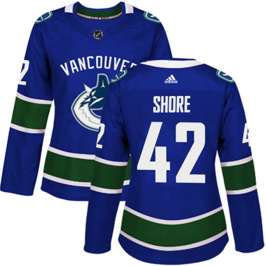 Drew Shore Vancouver Canucks Women's Adidas Authentic Blue Home Jersey