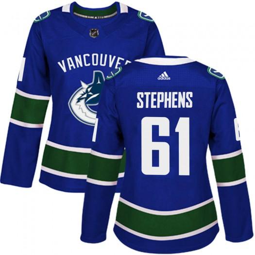 Devante Stephens Vancouver Canucks Women's Adidas Authentic Blue Home Jersey