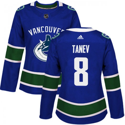 Chris Tanev Vancouver Canucks Women's Adidas Authentic Blue Home Jersey